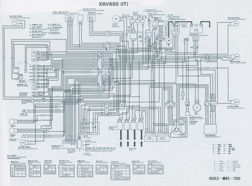Wiring schematic for Honda XRV650IT