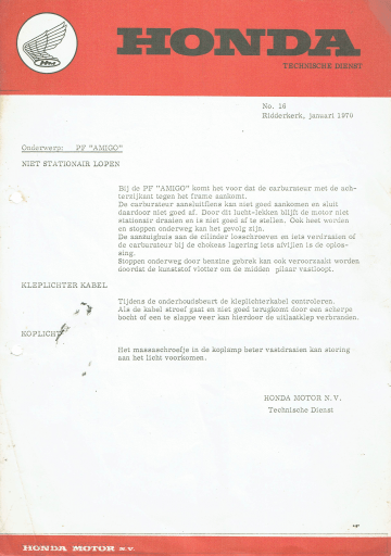 Servicebulletin 16 (1970)