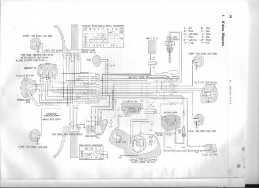Wiring schematic for Honda S110 Benly