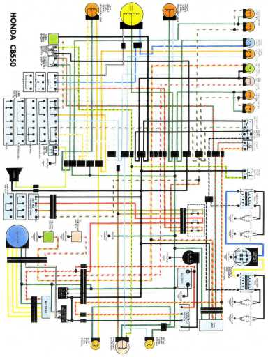 wiring schematic 4 stroke net all the data for your honda honda cb550 wiring schematic