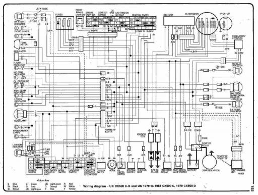 Wiring Schematic for Honda CX500D (1979)