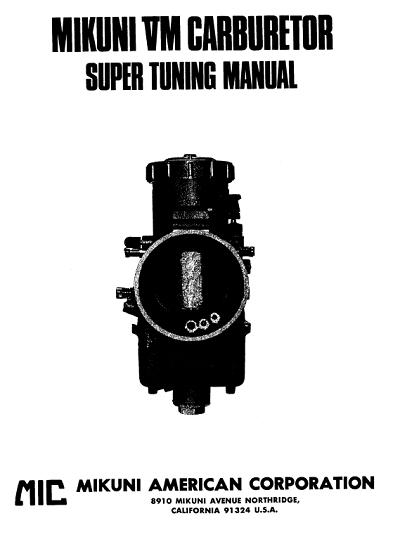 Mikuni VM Carburetor Tuning Manual