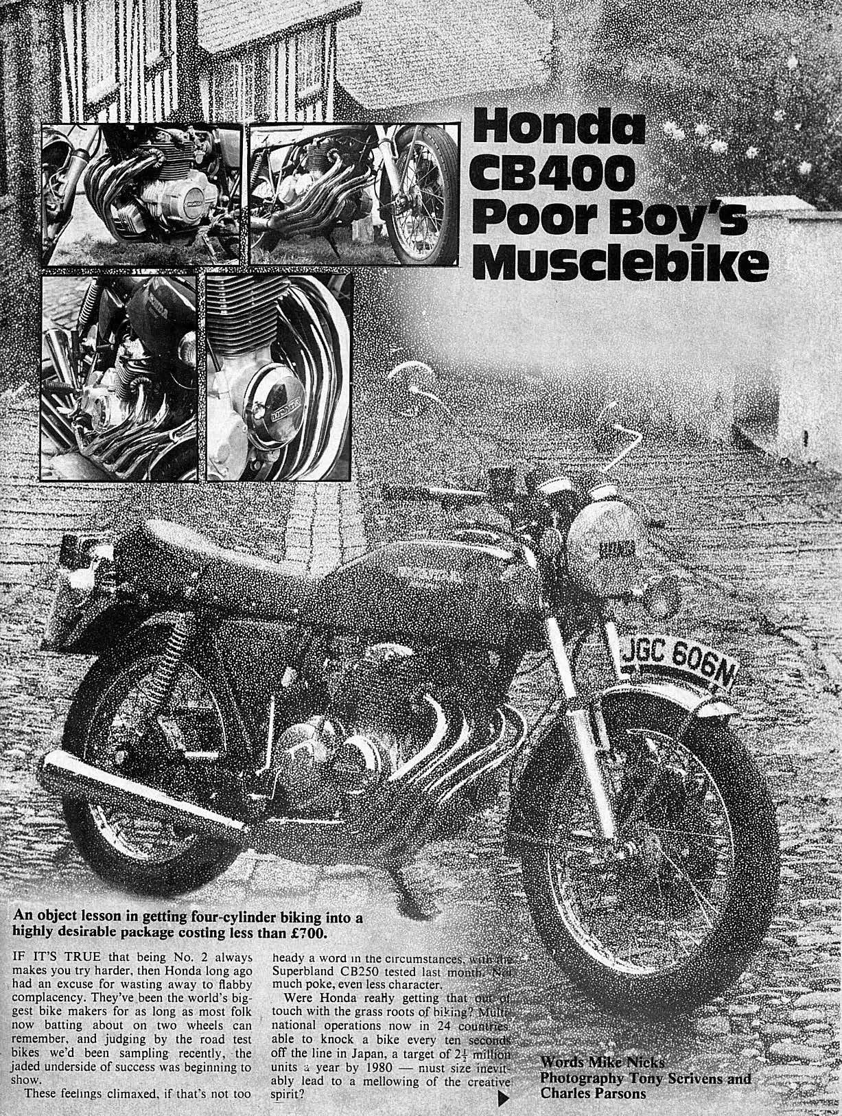 Honda CB400F - Poor boy's musclebike (1975)
