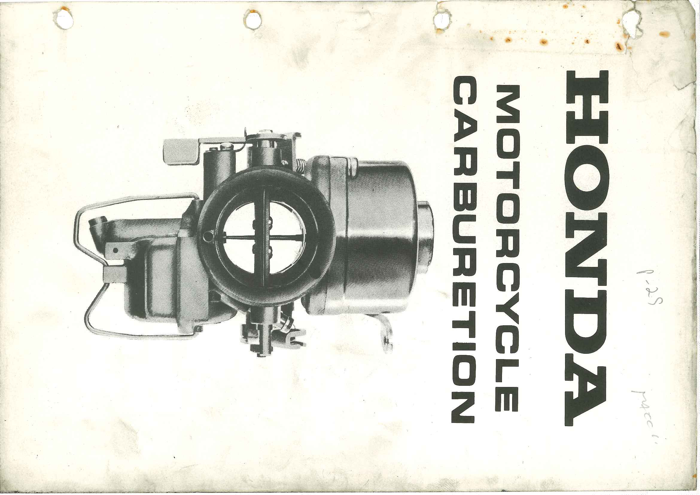 Honda Motorcycle Carburation
