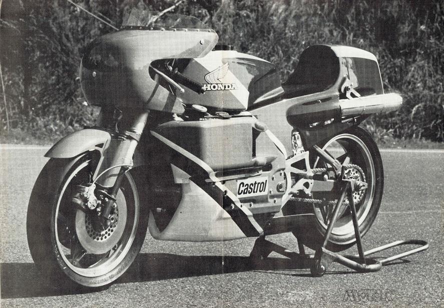 Honda Racing Bike Poster