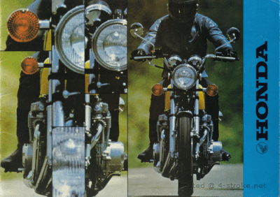 Dutch brochure containing various Honda models