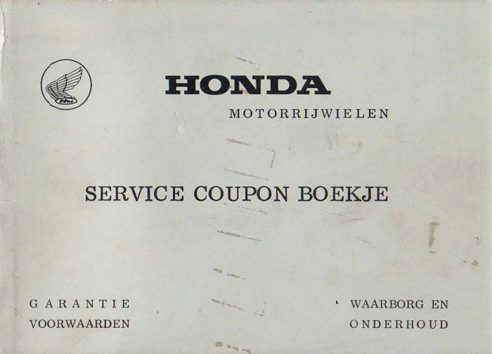 Honda Service Coupon Boekje