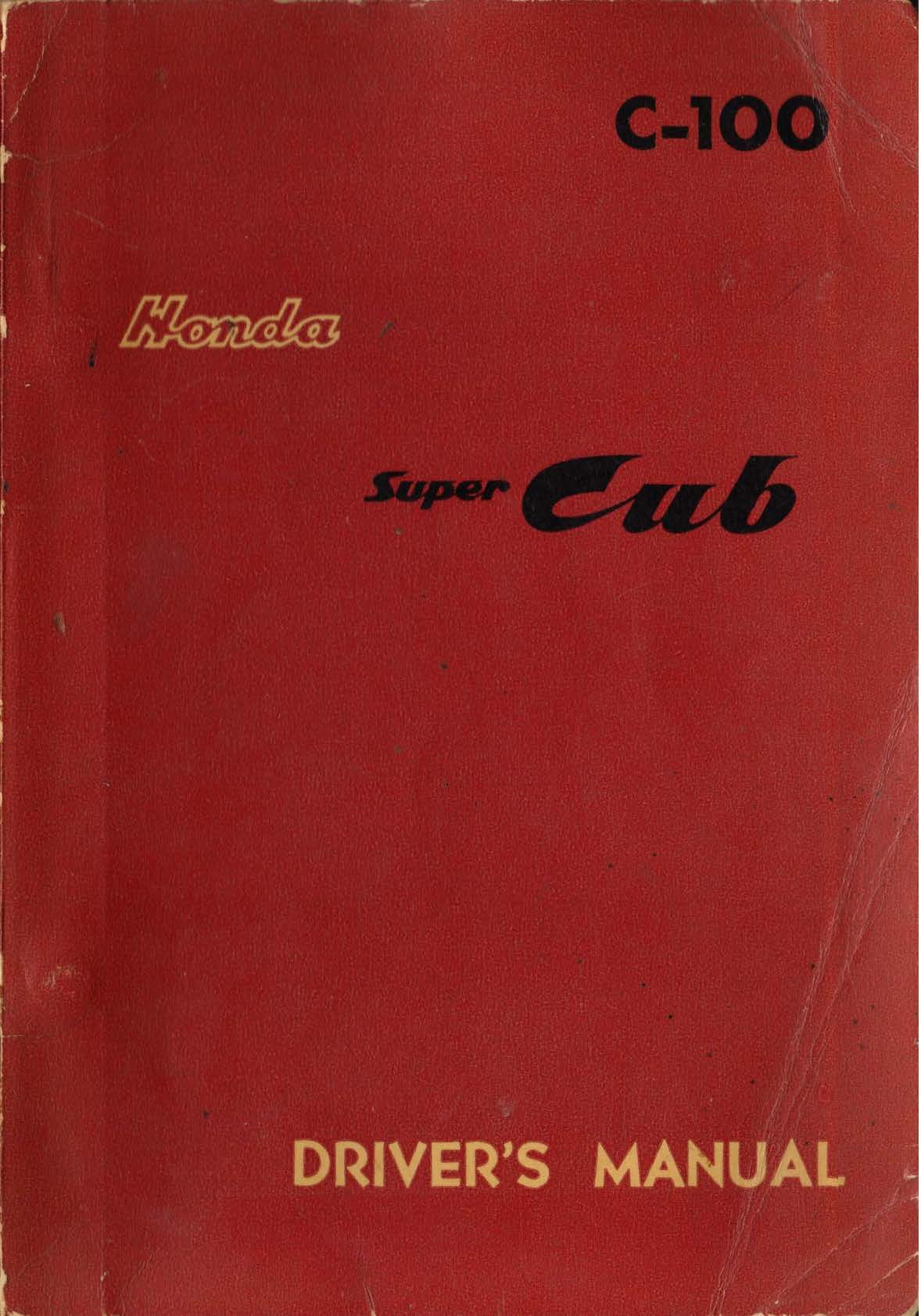 Honda C100 Owner's Manual / Partslist (1959)