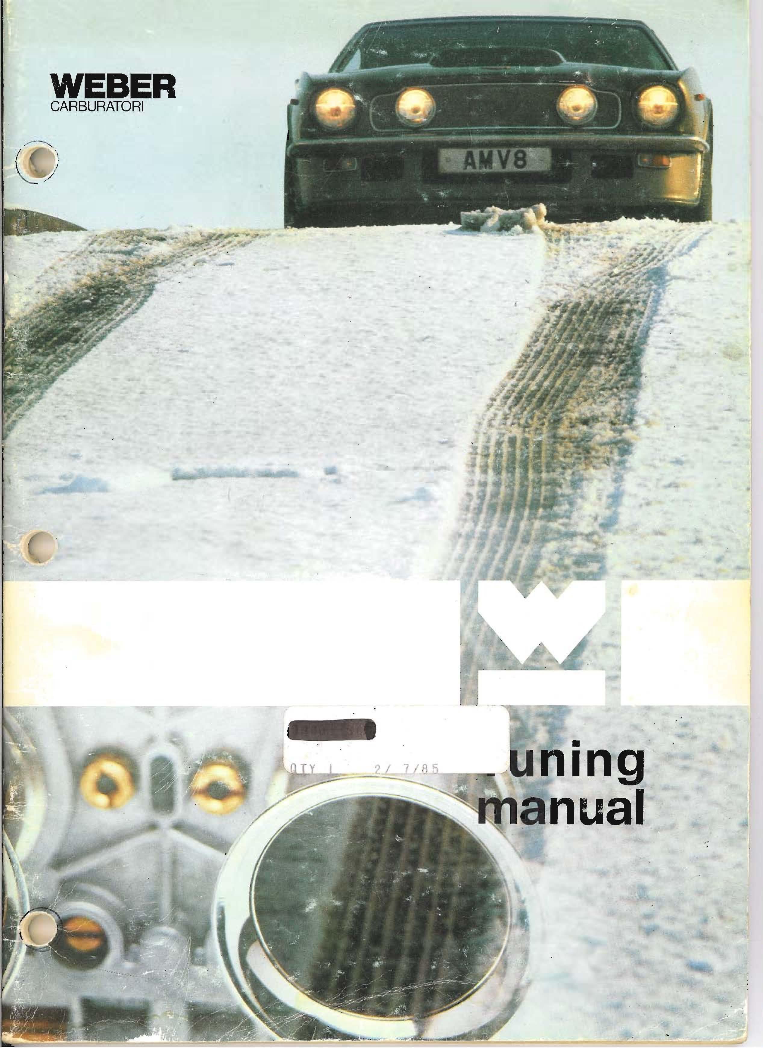 Weber Tuning Manual (1985)
