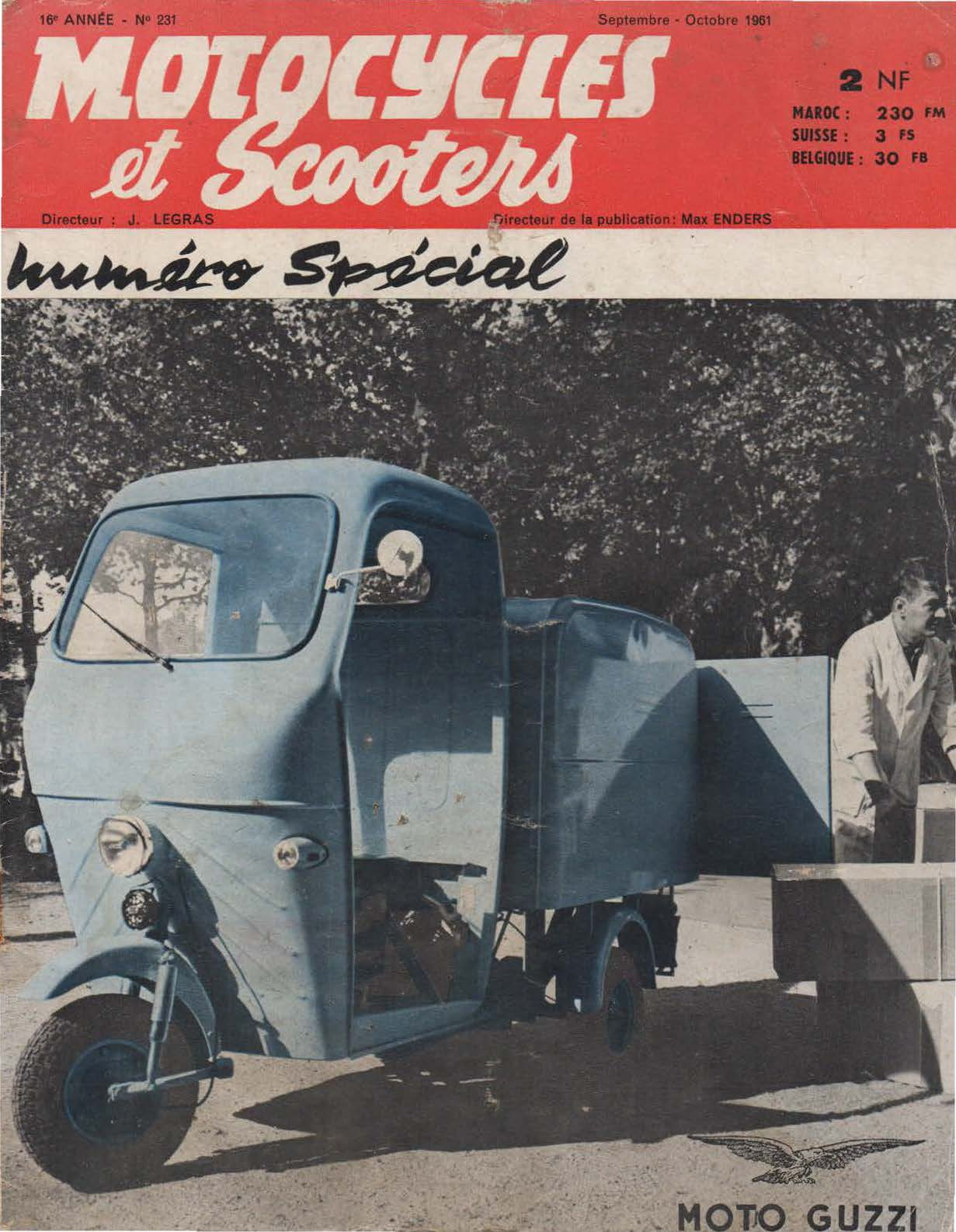 Motocycles et Scooters - Septembre-Octobre 1961 - No. 231