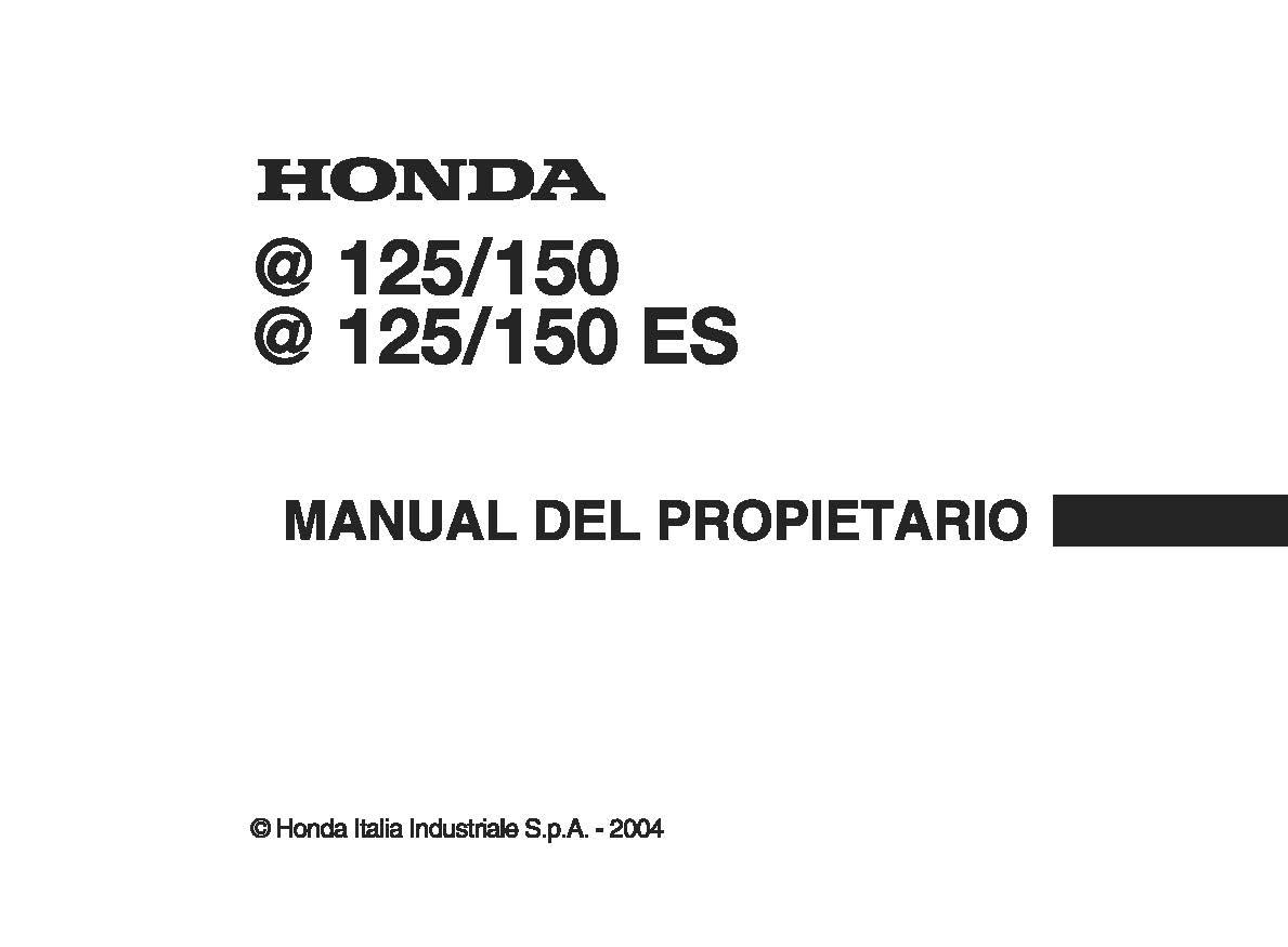 Owner's manual for Honda BIZ150 (2004) (Italian)
