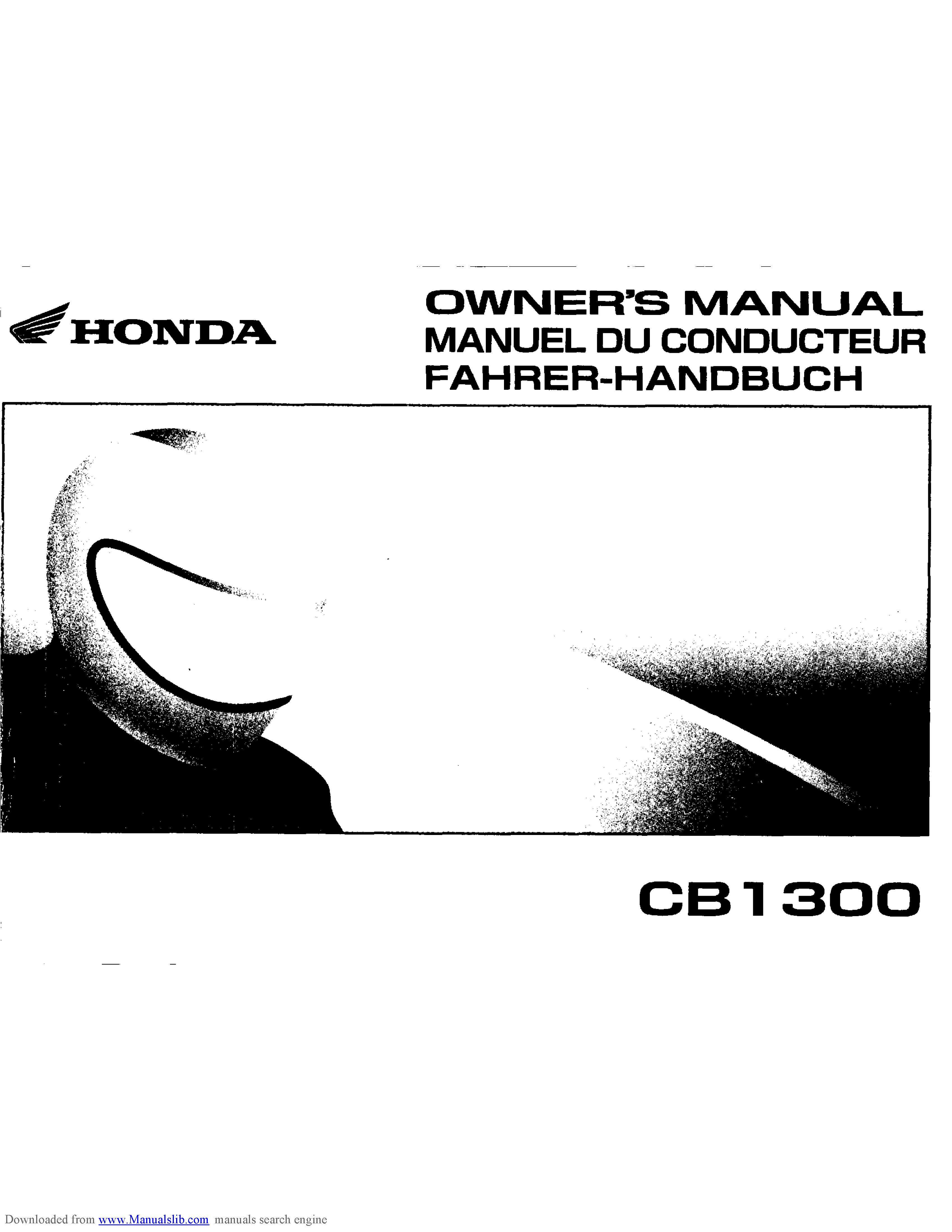 Honda CB1300 Owner's Manual (2003)