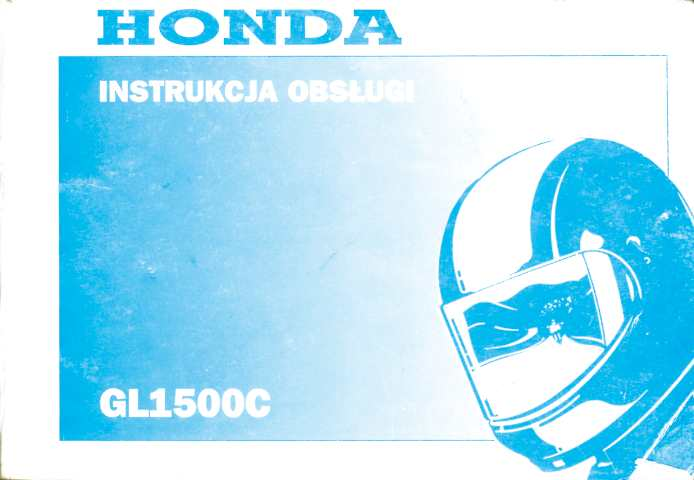 Owner's manual for Honda GL1500C (Polish)