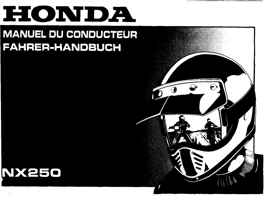 Owners manual for Honda NX250 (1992) (French/German)