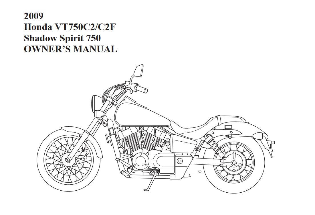 Owners manual for Honda VT750C2 (2009)