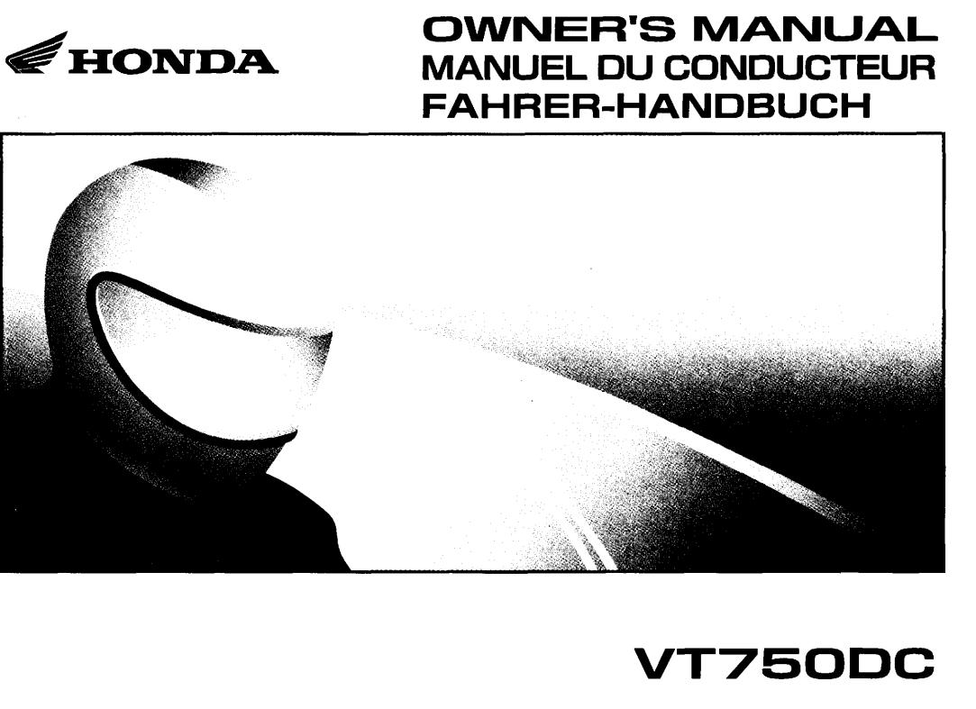 Owners manual for Honda VT750DC (2001)