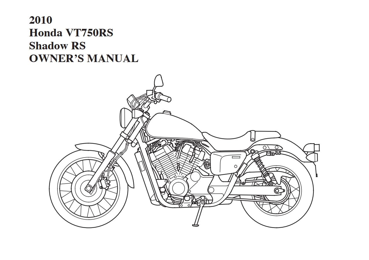 Owners manual for Honda VT750RS (2010)