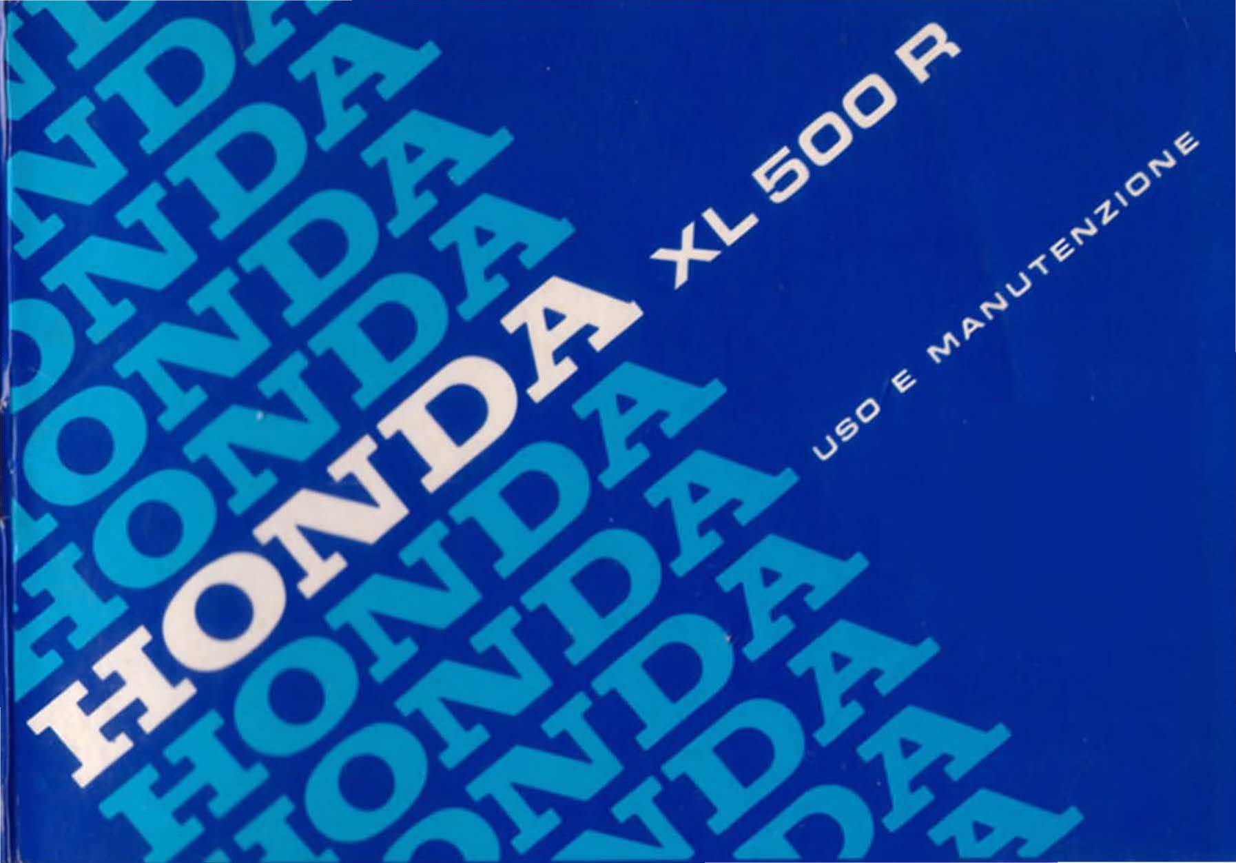 Owner's Manual for Honda XL500R (Italian)