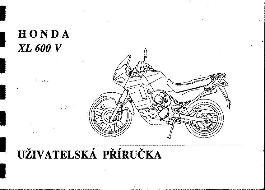 Owner's Manual XL600V (Czech)