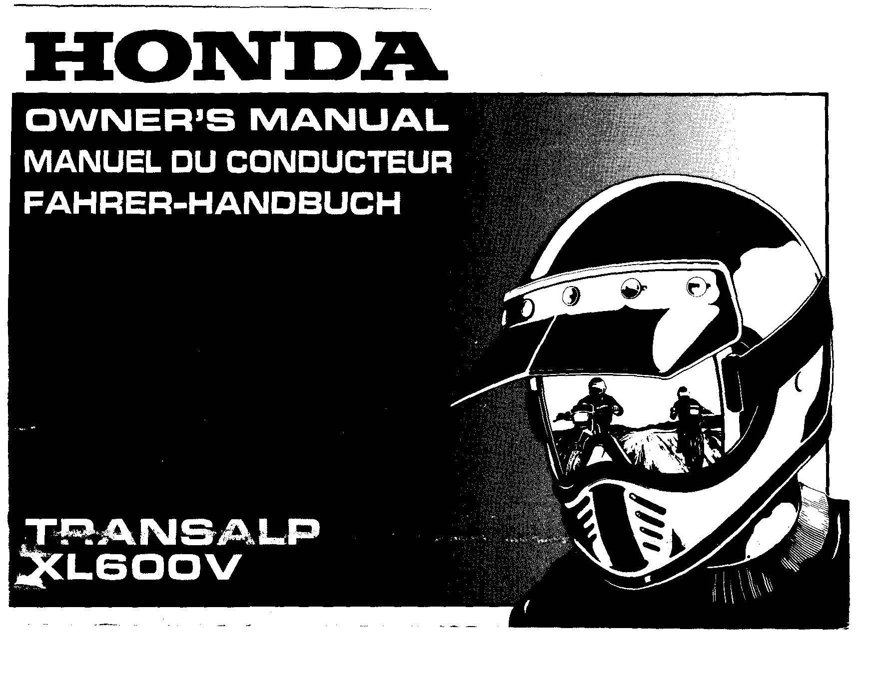 Owner's manual for Honda XL600V Transalp (1995)