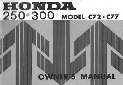Honda CA72 Owner's Manual (1965)