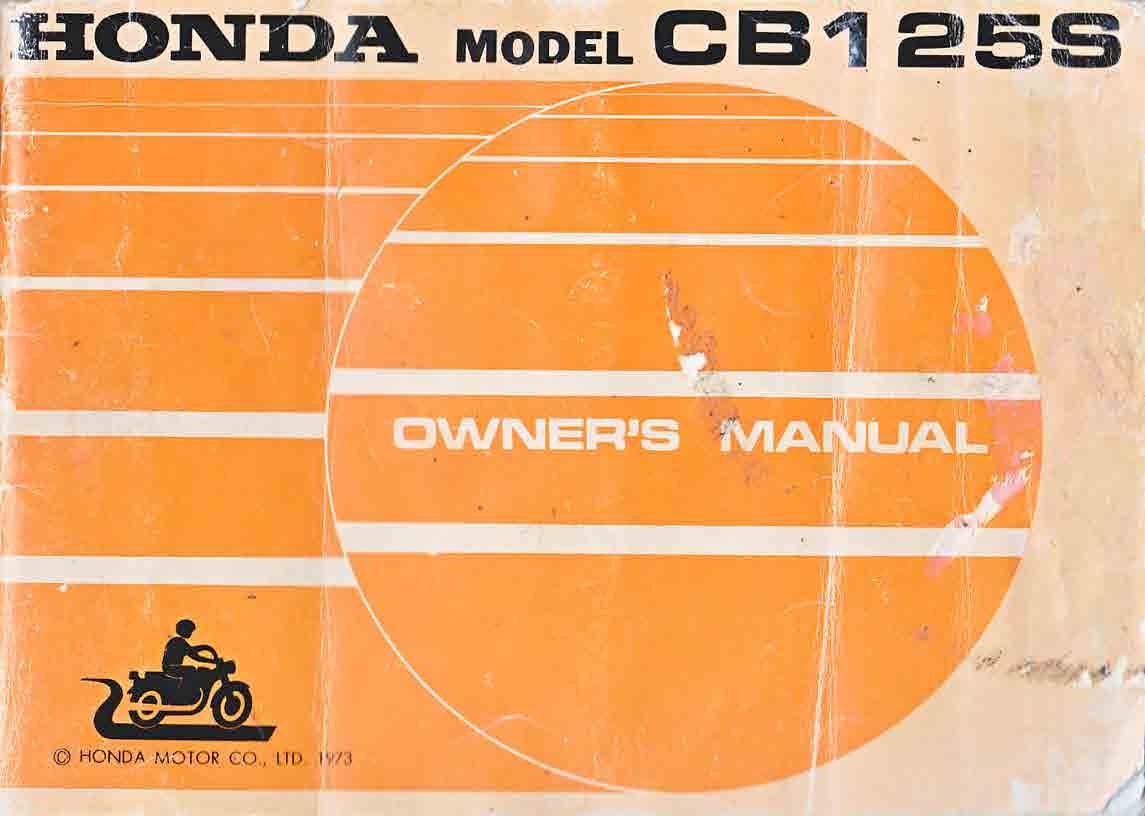 Honda CB125S Owner's Manual (1973)
