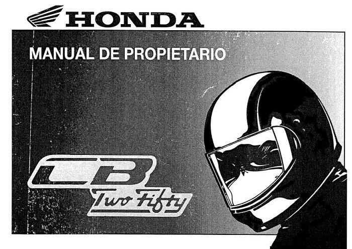 Honda CB250 (2002) (Portuguese) Owner's Manual