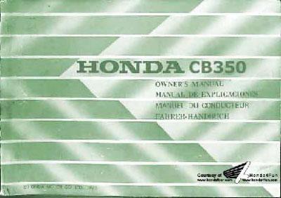 Honda CB350 (1975) Owner's Manual
