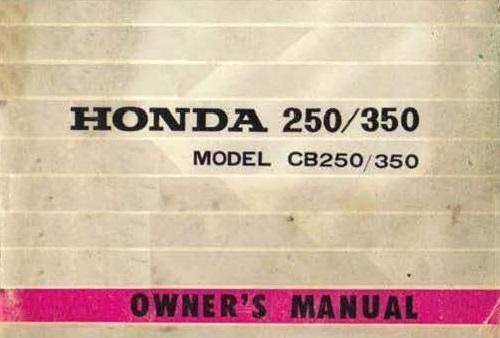 Honda CB350 Owner's Manual