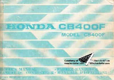 Honda CB400F (1974) Owner's Manual