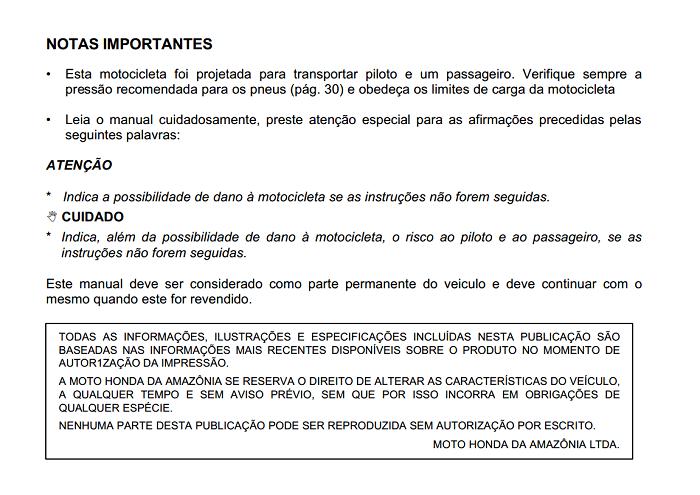 Honda CB450 (Portuguese) Owner's Manual