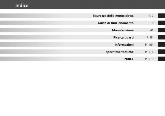 Honda CB500F (2012) Italian Owner's Manual