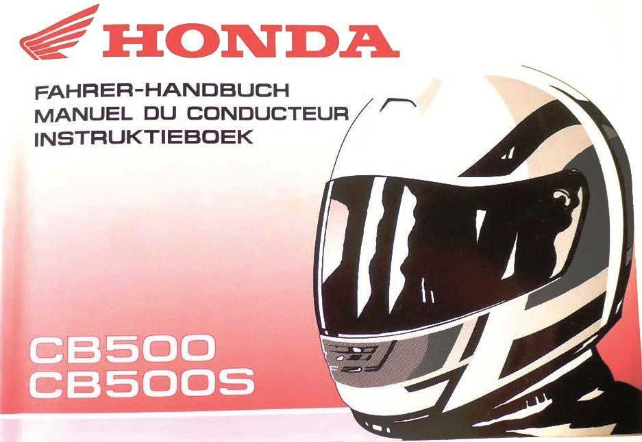 Honda CB500S Owner's Manual (DE/FR/NL)