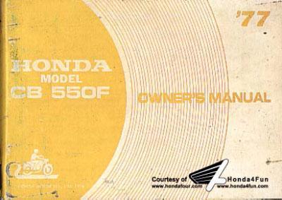 Honda CB550F Owner's Manual (1977)
