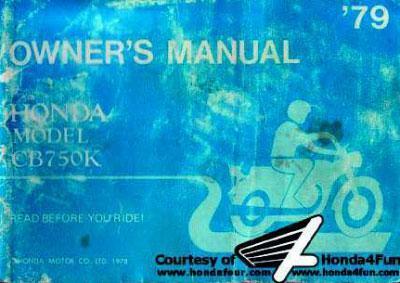 Honda CB750K (1979) Owner's Manual