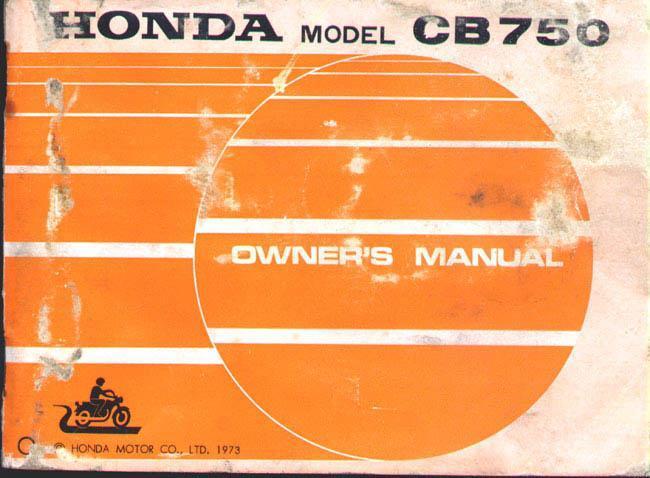 Honda CB750 (1973) Owner's Manual