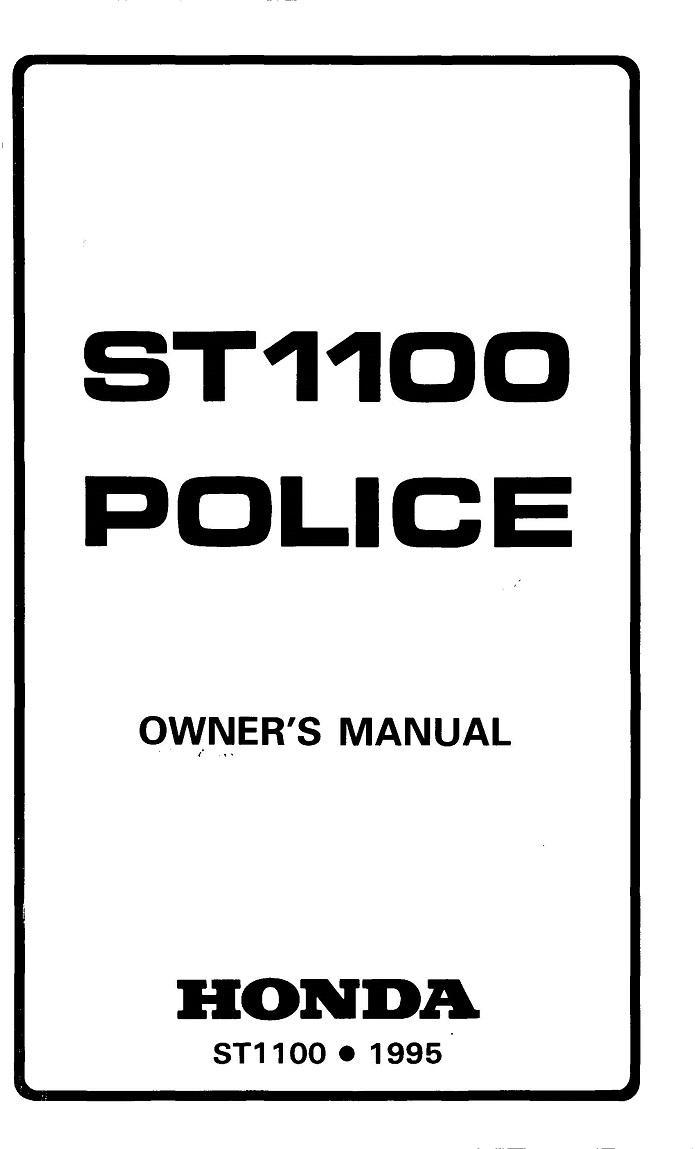 Overview Of All Categories The Data For Your Honda Qr50 Wiring Diagram St1100 1995 Police Owners Manual