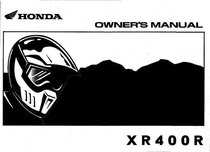 honda xr400r (2001) owner's manual
