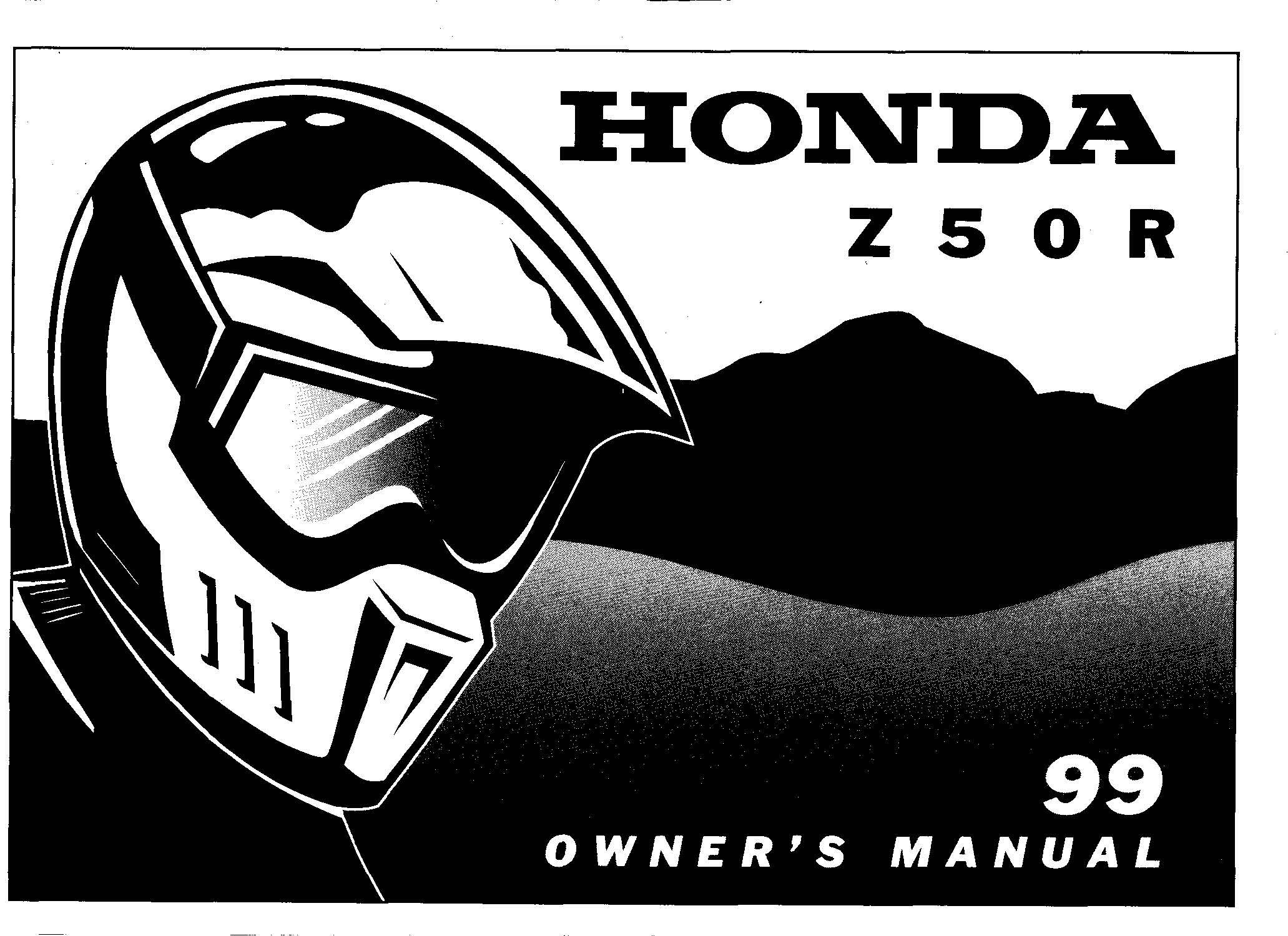 Honda Zr Owner S Manual Stroke All The Data For Honda Z50r Owner S  Manual