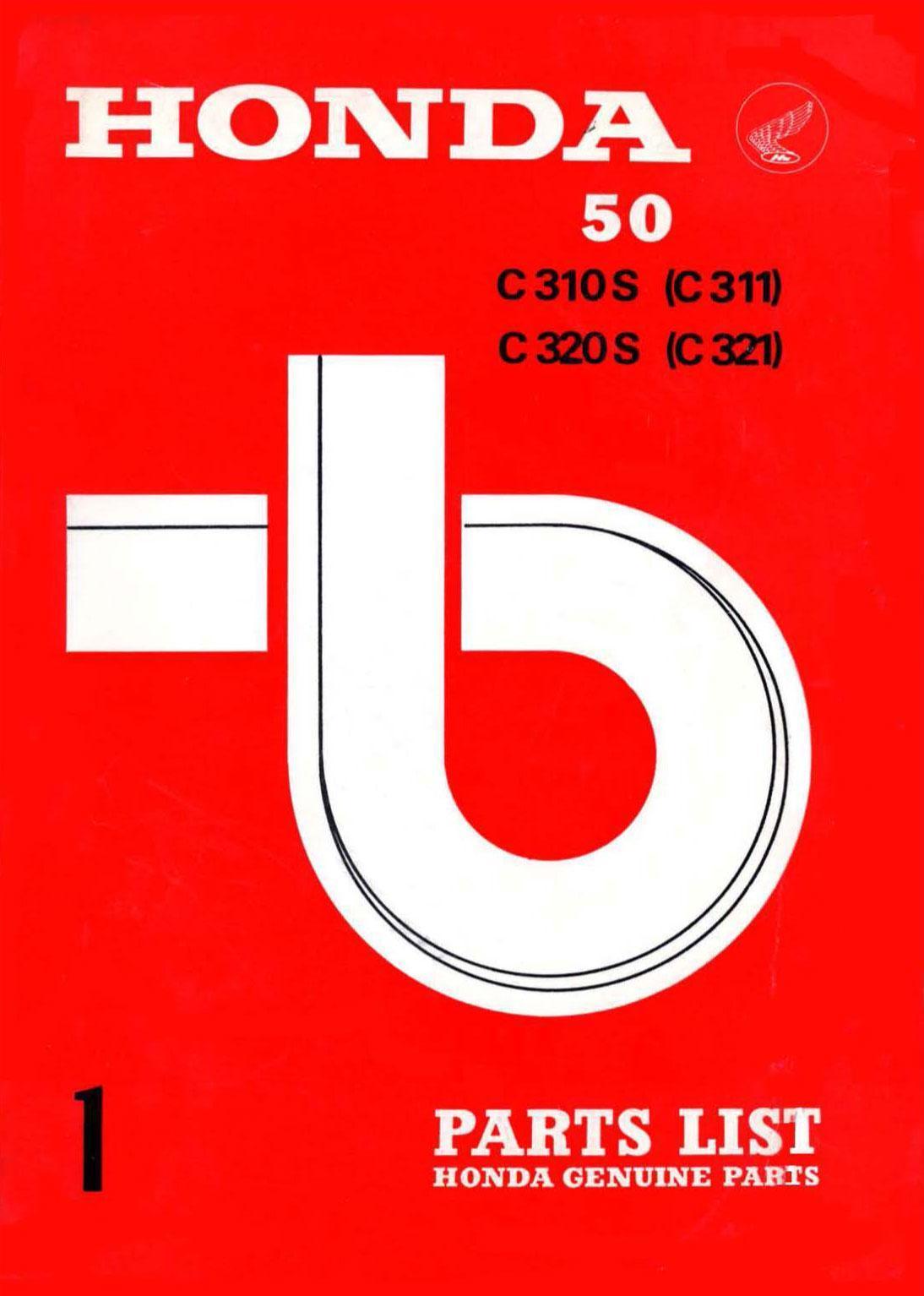 Parts List for Honda C321 (1967)