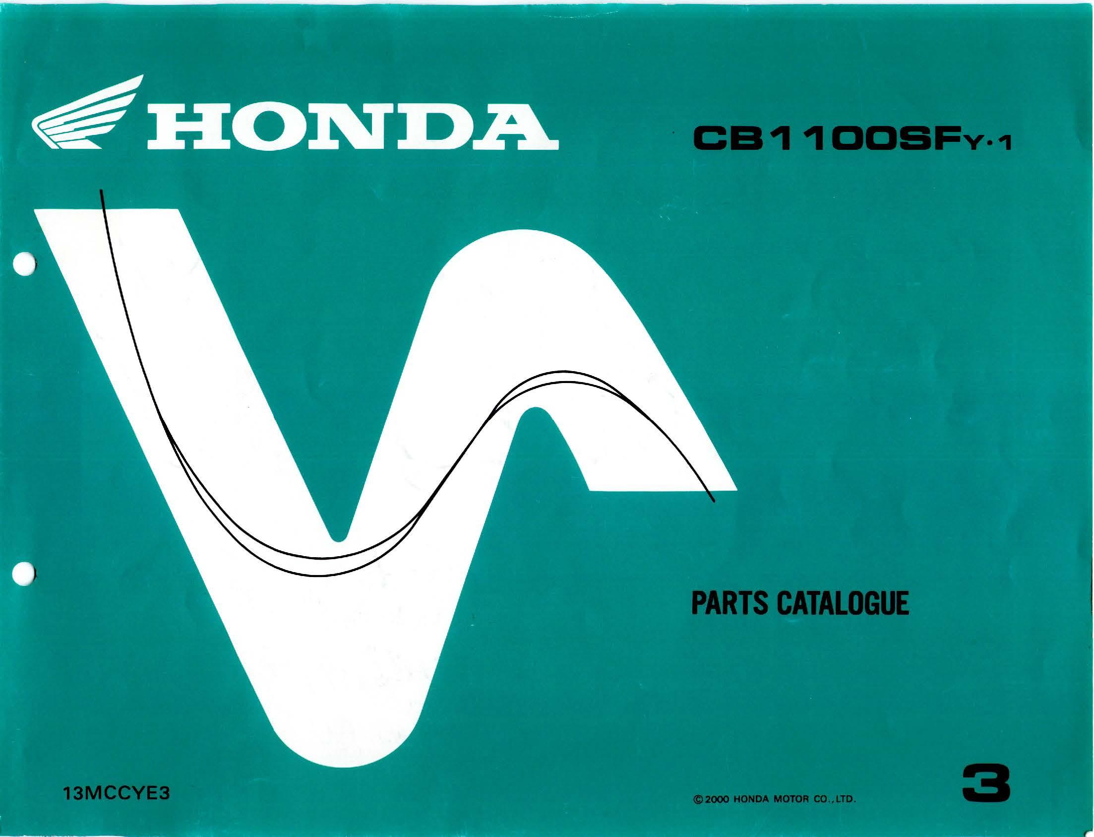 Parts list for Honda CB1100SF (2000)