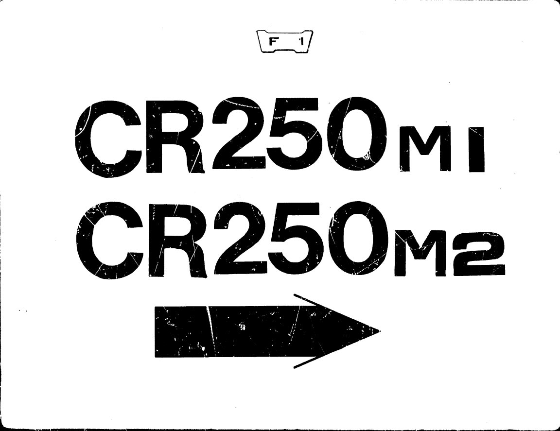 Parts list for Honda CR250M1 (1973)