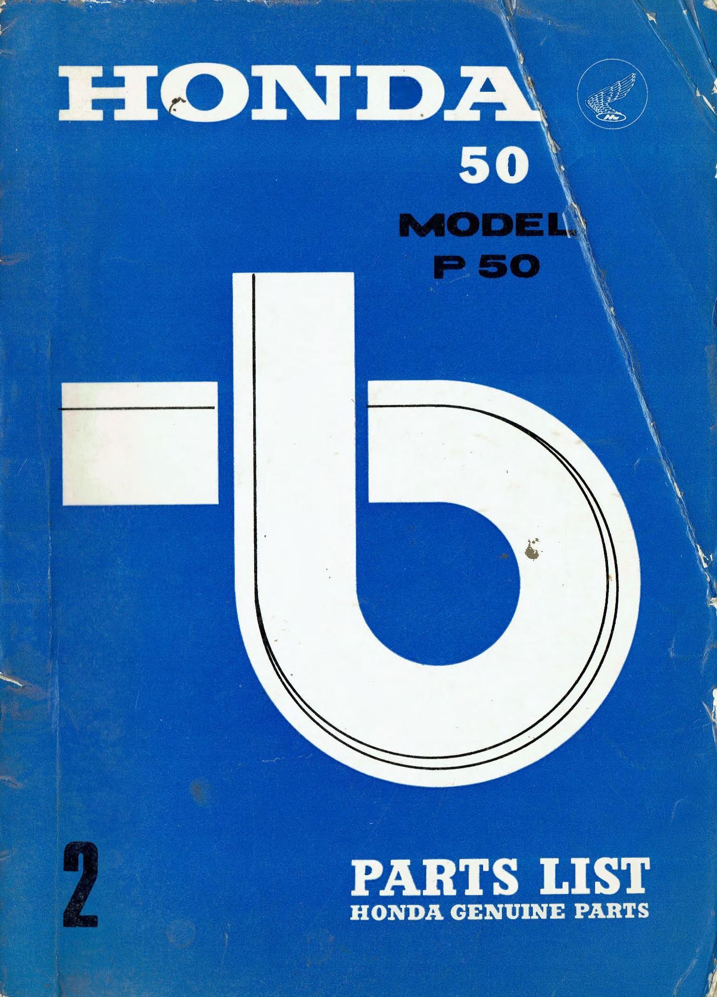 Partslist for Honda P50 (1967)