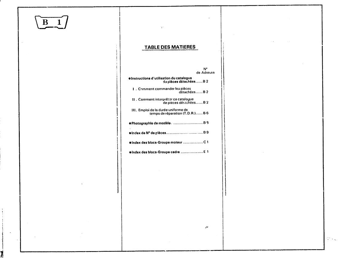Parts list for Honda XL200RD (1982) (French)