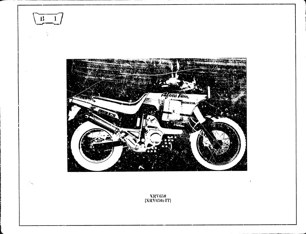 Parts list for Honda XRV650J (1993) (French)