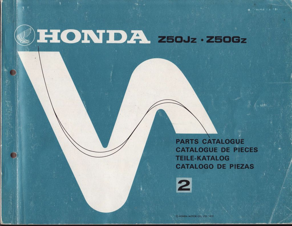 Parts List for Honda Z50G (1979)