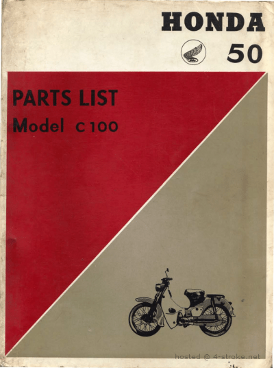 Parts list for Honda C100 (1960)