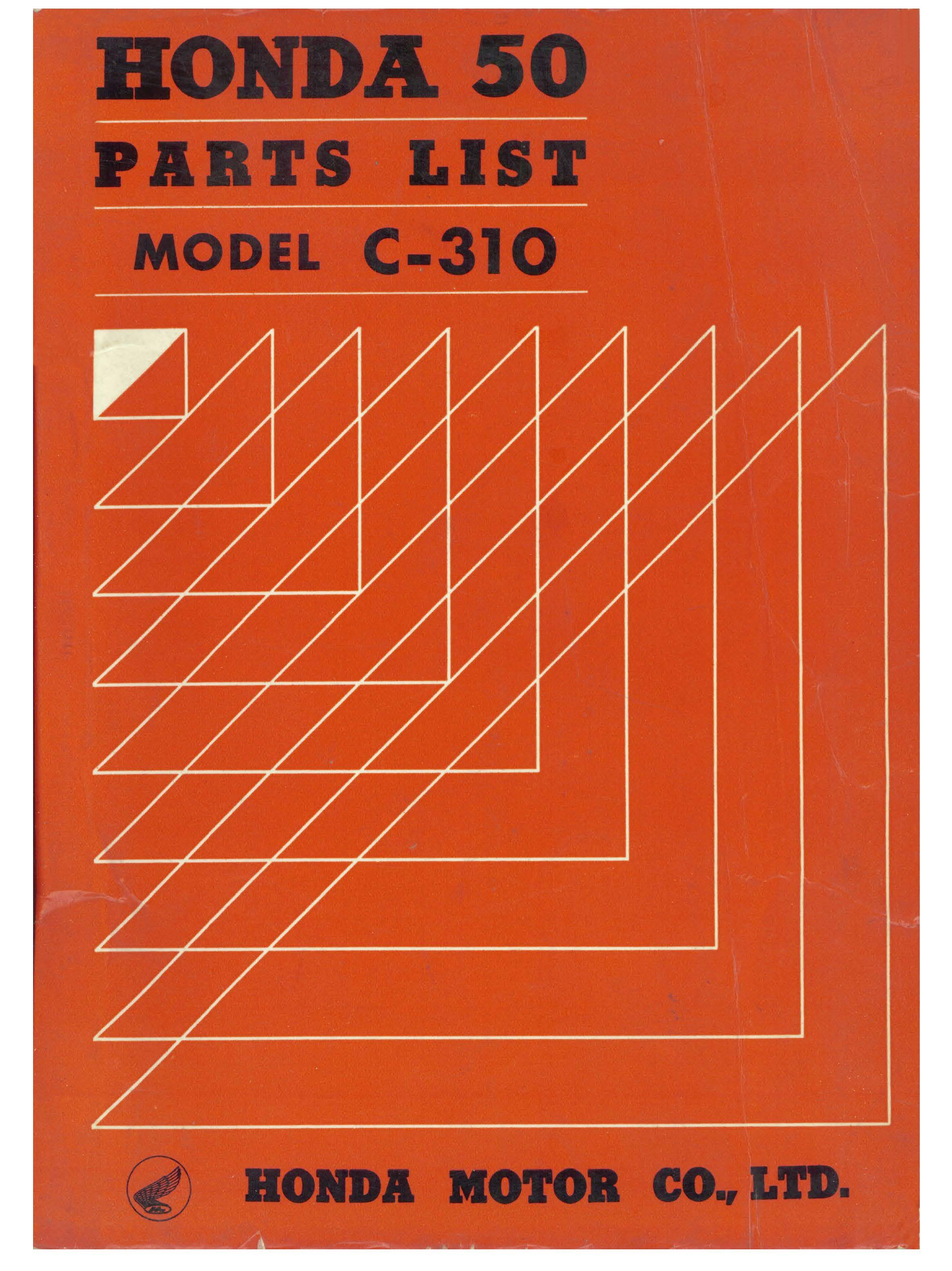 Parts List for Honda C310 (1963)