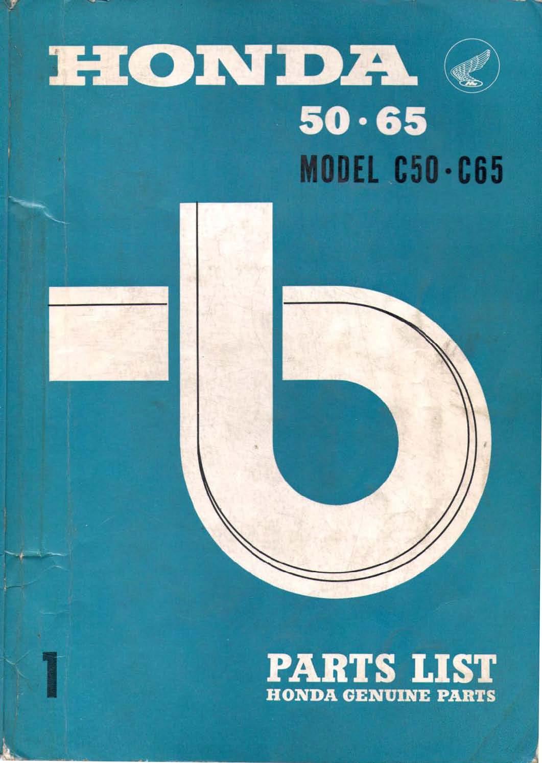 Parts list for Honda C50 (1966)