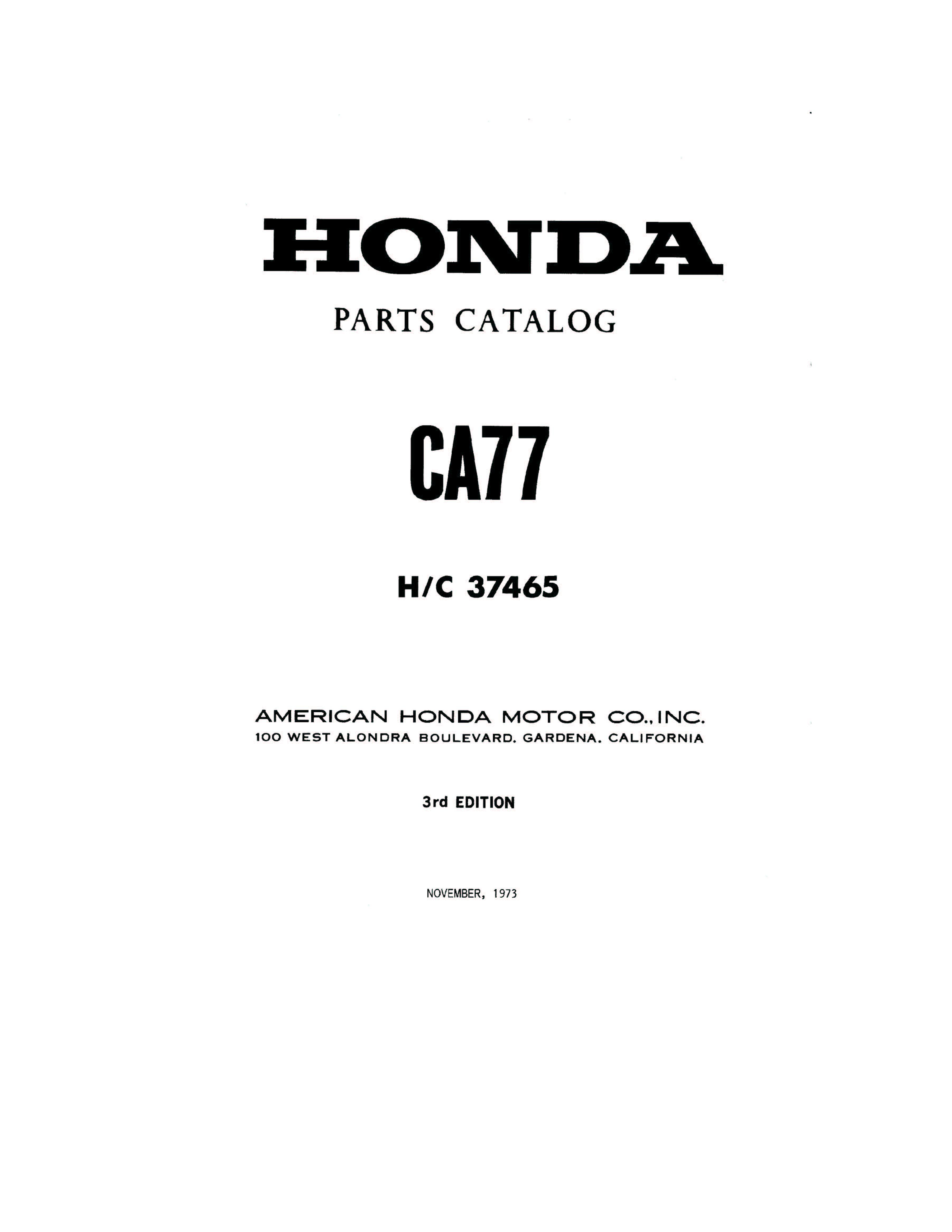 parts list 4 stroke net all the data for your honda motorcycle parts list for honda ca77 1973